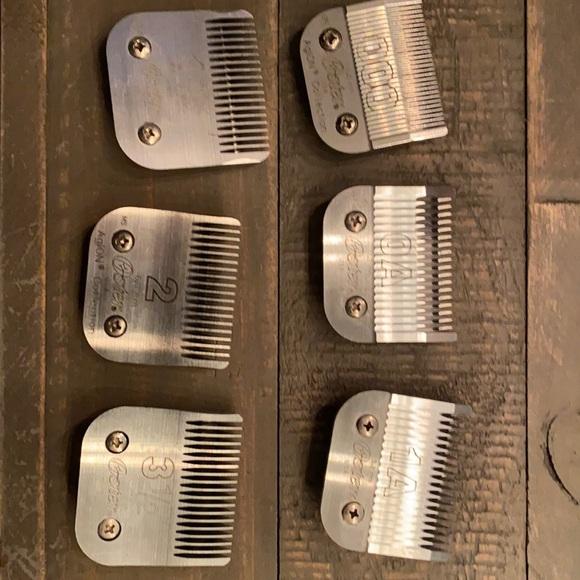 6 Oster metal blades